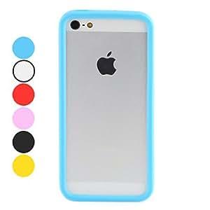 CECT STOCK Caso de parachoques de color sólido para el iphone 5/5s (colores surtidos) , Blanco