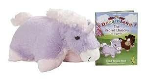 "My Pillow Pets Book Engardia And 17"" Lavender Unicorn Pillow Pet"