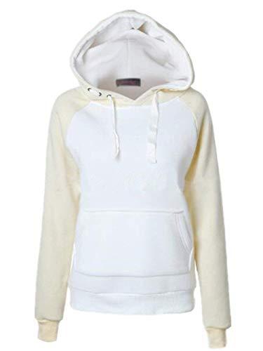 Casual Vita Lunga Con Streetwear Cappuccio Beige Swag Abbigliamento Manica Autunno Moda Donna Eleganti Felpe Alta Tasche Invernali Sciolto Felpa n4Y76q6F