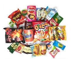 Squaredino: Ultimate Korean Snack Box (25 Count) - Variety Assortment of Korean Snacks, Chips, Cookies, Candies