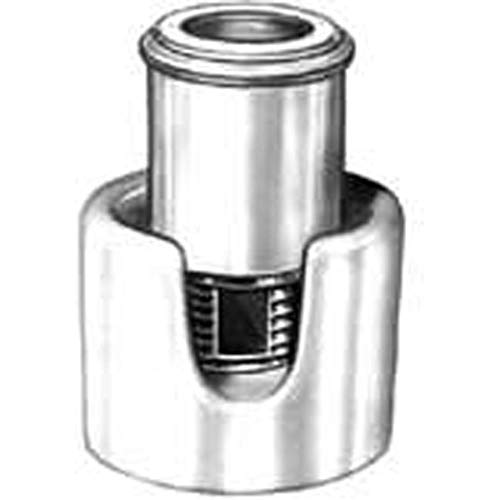 Ceramic Terminal Block; Euro-style; Cylindrical; 1 Pole; 10mm; 44 A; 250 V, Pack of 5