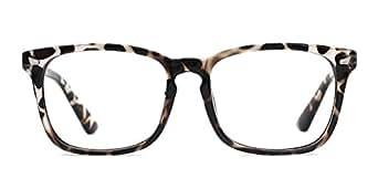 3a876c6301c Amazon.com  TIJN Blue Light Blocking Glasses Square Nerd Eyeglasses ...