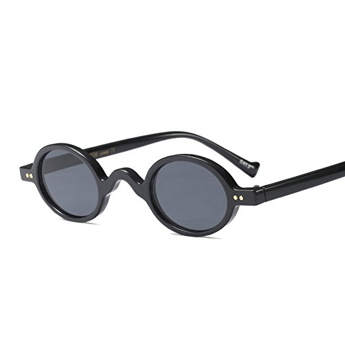 Tiny Sunglasses Male Round Vintage Sun Glasses for Women Summer Accessories (full black) -