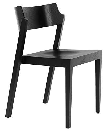 Amazon Com Wood Dining Chair With Curved Back Dining Chair With