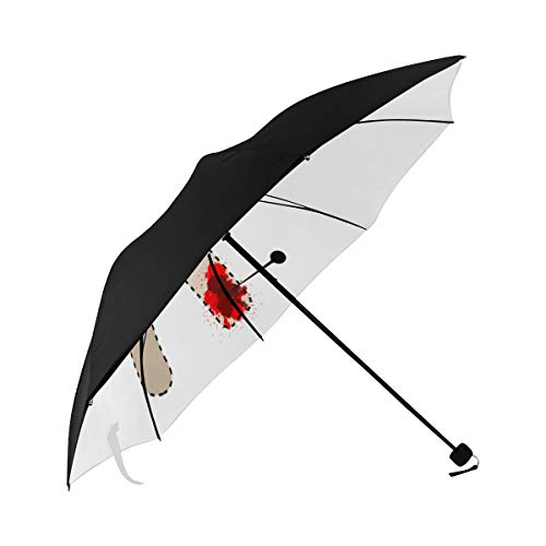 Umbrella Voodoo Doll Black Magic Isolated Underside Printing Compact Travel Sun Umbrella Parasol Anti Uv Foldable Umbrellas With 95% Uv Protection For Women Men Lady Girl