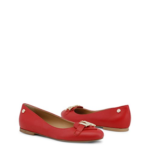 flats Red Moschino Women Love Ballet Red a7RxnwnT1q