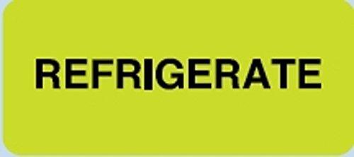 Laboratory Label General Alert Fluorescent Chartreuse 1 X 2-1/4 Inch