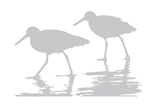 (Sand Pipers in the Shoals - Coastal Design Series - Etched Decal - For Shower Doors, Glass Doors and Windows - 26