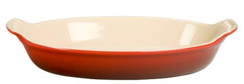 Le Creuset Heritage Stoneware Petite Oval Au Gratin Dish, Cerise (Cherry (Au Gratin Casserole)