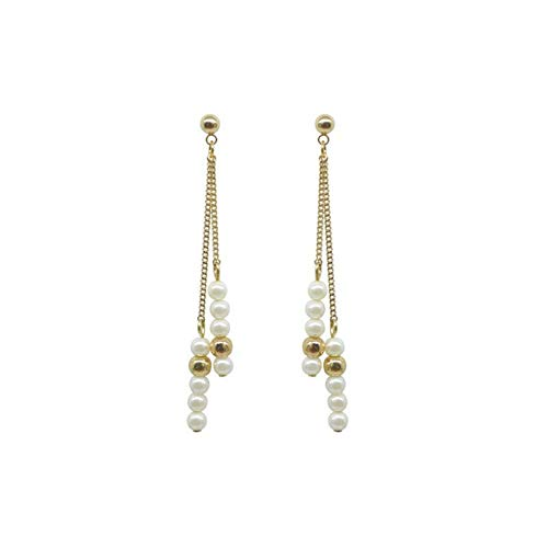 - YJFPLEH Drop Earrings Faceted Glass Beads Pearl Dangle Earrings for Women Jewelry Plastic Hook Anti Allergy Earrings