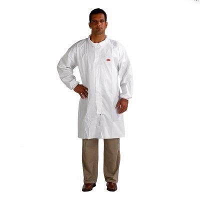 Tyvek Lab Coat - 3M Disposable Lab Coat 4440, Polypropylene, Extra Large, White