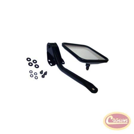 Side Windshield Mirror Kit (Stainless) - Crown# RT30002