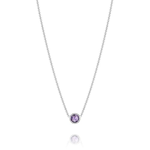 Tacori Bezel Necklace (Tacori SN15401 Lilac Blossoms Petite Floating Bezel Amethyst Necklace, 16