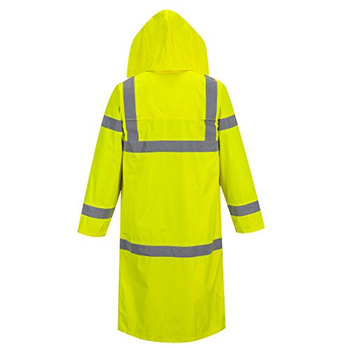 Portwest UH445YERXL Hi-Vis Classic Raincoat 48, X-Large, Yellow by Portwest (Image #1)