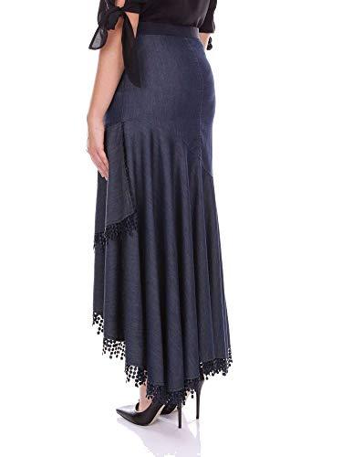 Falda Blumarine Algodon Azul Mujer 1540221 788BnYA