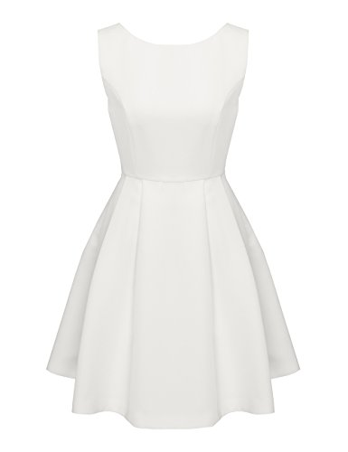 APART Damen Fashion Creme Kleid Weiß zaPAq