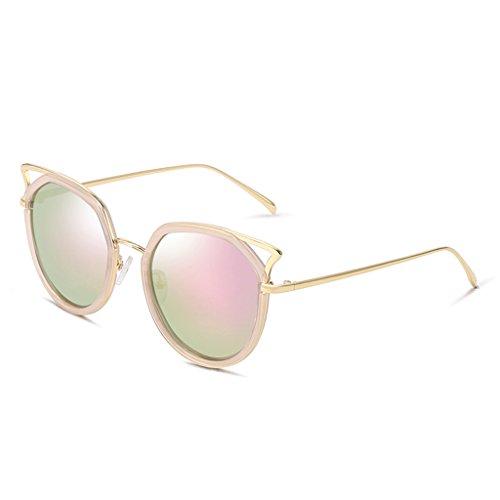 LIUXUEPING Polarized Sunglasses Cat Fashion Purple Color Pink New Eye Sunglasses Lady qrtSw4q6