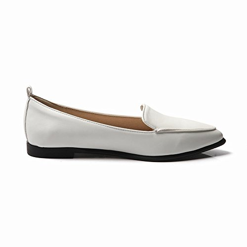 Latasa Womens Pointed-toe Ballet Flats White CFG0qh8