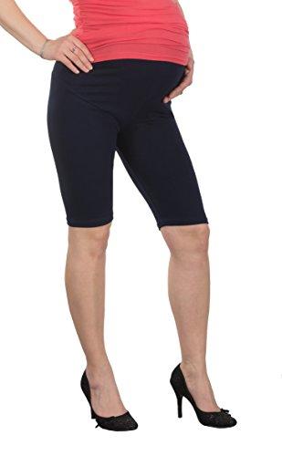 Jandaz® - Leggings de invierno para premamá, algodón, varios colores Short Navy Blue