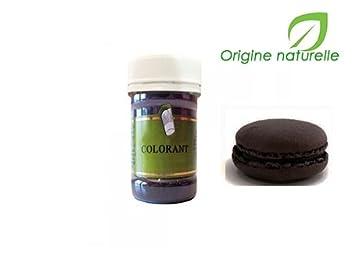 slectarme colorant alimentaire en poudre noir charbon vegetal e153 4g origine naturelle - Colorant Alimentaire Noir