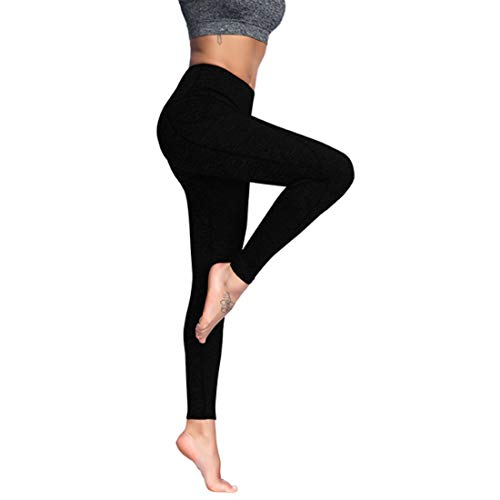 movimento Pocket delle Il vita nuove Nero a Yoga stretch Fitness donne Pantaloni Huicai Tight Pantaloni Pantaloni alta 5CqwgXEn