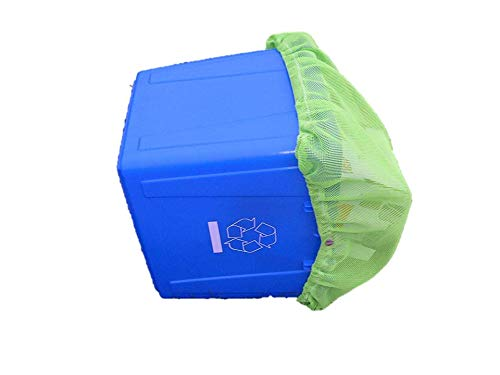(Habitat Union Recycling Bin Cover Net, Trash Can and Waste Container Cover,Industrial Strength, Made in Canada)