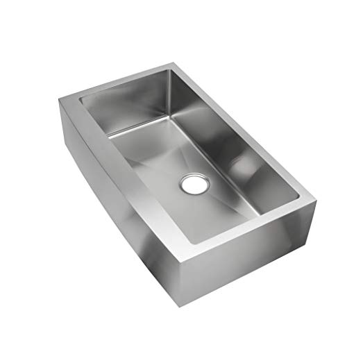 Hahn EVO36SFH Kitchen Farmhouse Sink, Extra Large, Satin