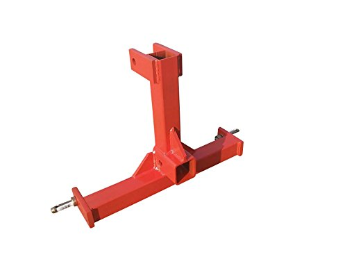 - Heavy Duty 3 Point Category 0 Drawbar Receiver Hitch Tow Bar - Compatible with Kubota Orange