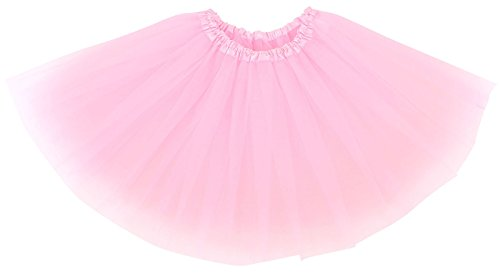 AshopZ Women's 3-Layered Ballet Tutu Skirt, Tulle Fibers &Classic Elastic, Pink]()