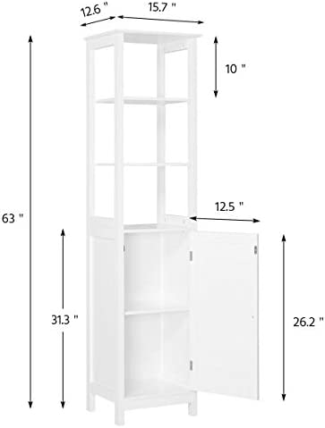 home, kitchen, furniture, accent furniture,  storage cabinets 5 discount Yaheetech Bathroom Floor Cabinet, Wooden Tall Storage Cabinet promotion