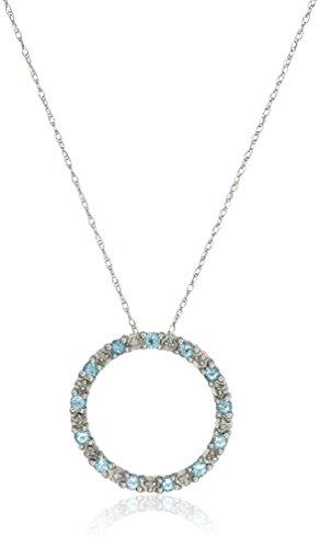Diamond Accent Circle Pendant - 9
