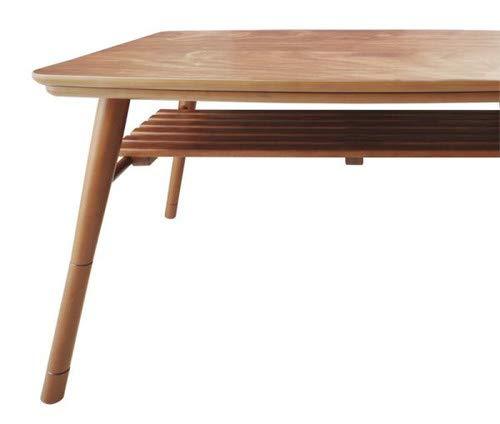 4尺長方形(80×120cm)高さ調整 棚付きデザインこたつテーブル Kielce キェルツェ 【品】 B07KZ3D3ZZ