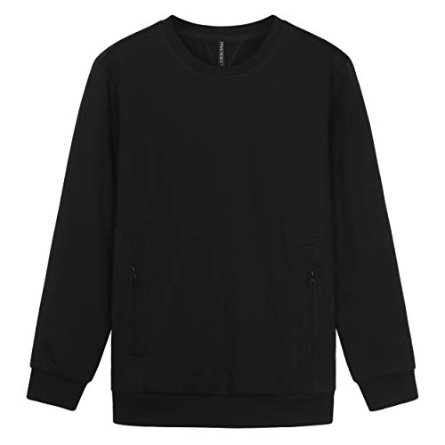 (Innersy Men's Heavy Cotton Blend Sweatshirt (2XL, Black))
