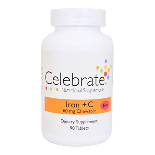 Celebrate Iron + C 60 mg chewable Berry – 90 Count