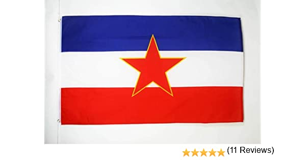 AZ FLAG Bandera de Yugoslavia 90x60cm - Bandera YUGOSLAVA 60 x 90 cm: Amazon.es: Hogar