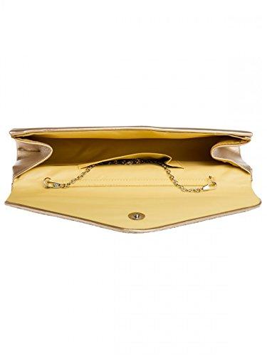 CASPAR Fashion - Borsetta senza manici donna Gold