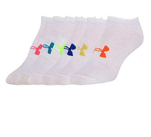 (Under Armour Girl`s Essential No Show Socks (6 Pack))