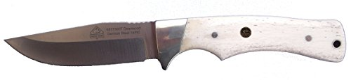 Puma SGB Deadwood Canyon White Smooth Bone Hunting Knife with Leather Sheath