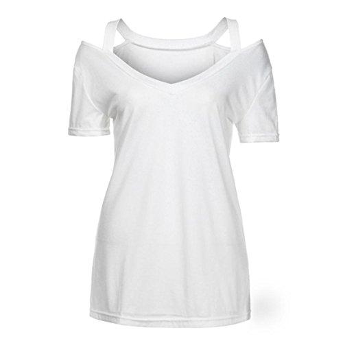 Courtes Dames Tunique Off À Solide Été Hauts 2018 Rétro shirt Col Printemps Vêtement Manches Vente Épaule Hemd V Femmes Blouse Élégant T Bellelove Blanc Chaude 0qIwBAx