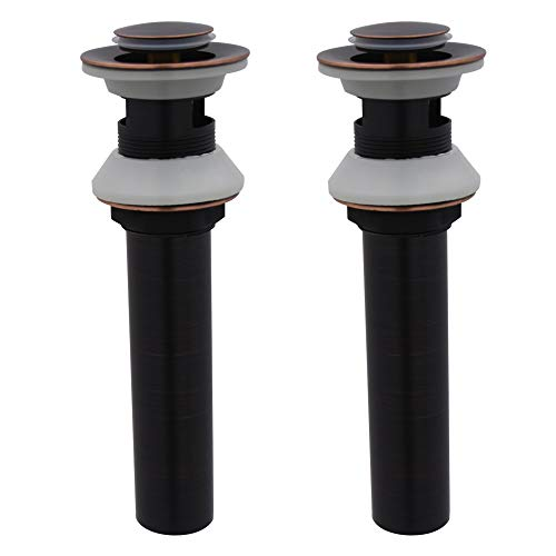 XVL Bathroom Faucet Vessel Vanity Sink Pop Up Drain Stopper with Overflow 2 Pieces Oil Rubbed Bronze ()