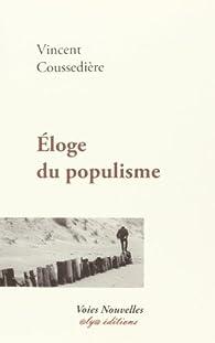 Eloge du Populisme par Vincent Coussedière