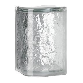 Cortina Blocks - Quality Glass Block 4 x 8 x 4 Cortina Rounded Corner Glass Block
