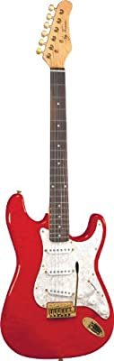 Jay Turser 300 Series Jt-300qmt-tr Electric Guitar, Transparent Red