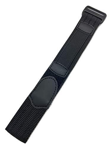 18-20mm Adjustable-Length, Black, Nylon Sport Watch Strap ()