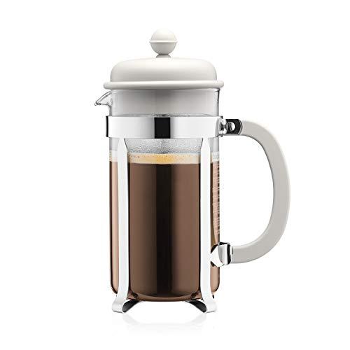 Bodum French Press System Caffeteria 8 Cups 1 L Cafetera émbolo, Vidrio, plástico, Acero, Blanco Crema, Centimeters