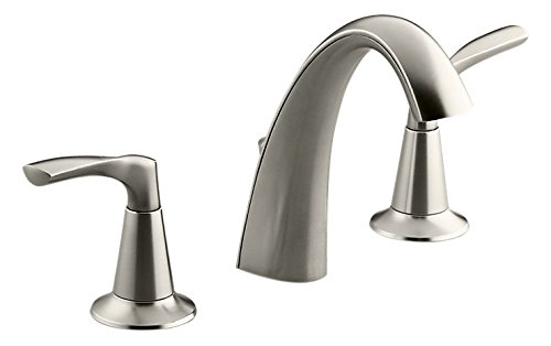 Kohler K-R37026-4D-BN Mistos Widespread Bathroom Sink Faucet,,, Vibrant Brushed Nickel by Kohler