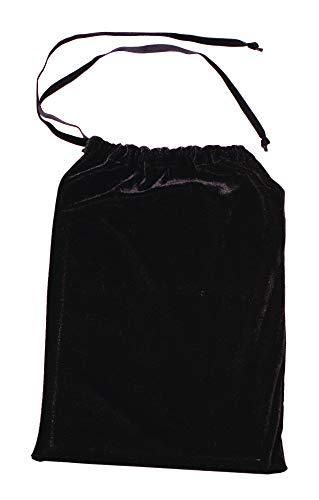- 9 x 12 Drawstring Velvet Bag - Black