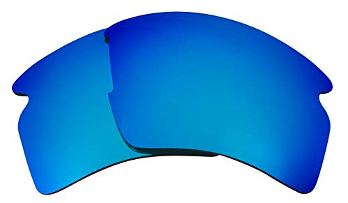 Seek Optics Replacement Lenses for Oakley FLAK 2.0 XL, Revo Ice Blue Mirror ()
