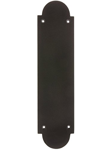 Arch Design Push Plate In Oil Rubbed Bronze Door Hardware