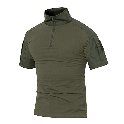 Military Ba King's Camo Classic Cotton Short Sleeve T-Shirt Realtree Edge-Green L